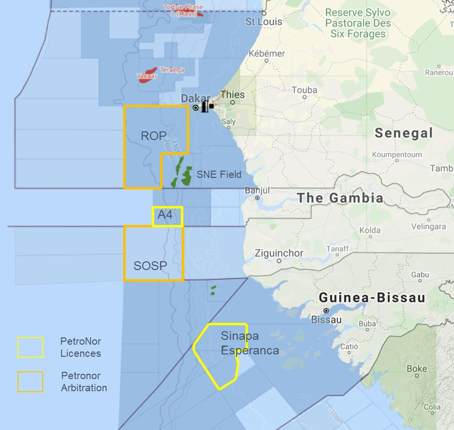 Guinea Bissau blocks map