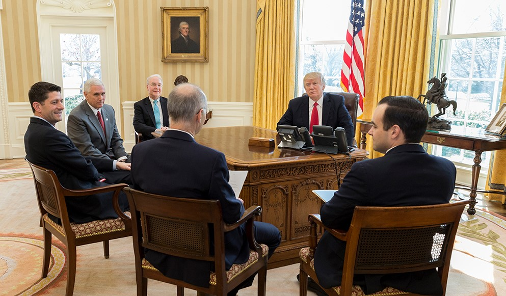 Donald Trump in the Oval office; Source: White House