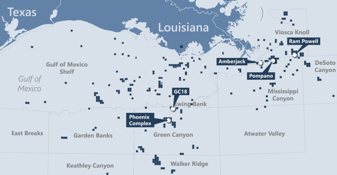 Talos assets in Gulf of Mexico; Source: Talos