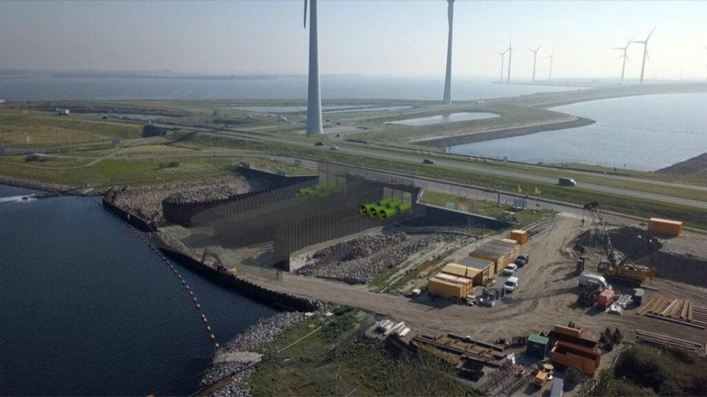 Artist's impression of the Climate Power Plant Zeeland in the Grevelingendam (Courtesy of Pentair Nijhuis)