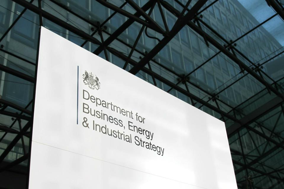 Department for Business, Energy & Industrial Strategy (BEIS) (Courtesy of UK Government)