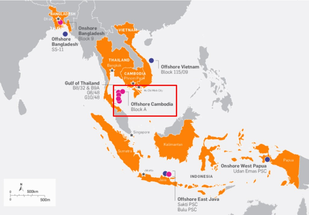 Location of Block A offshore Cambodia; Source: KrisEnergy