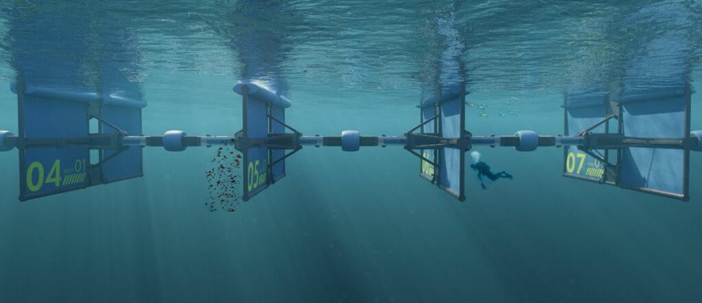 An image showing Wavepiston wave energy system (Courtesy of Wavepiston)