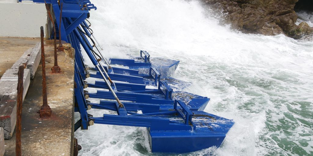 A photo of Eco Wave Power's Gibraltar wave energy plant (Courtesy of Eco Wave Power)
