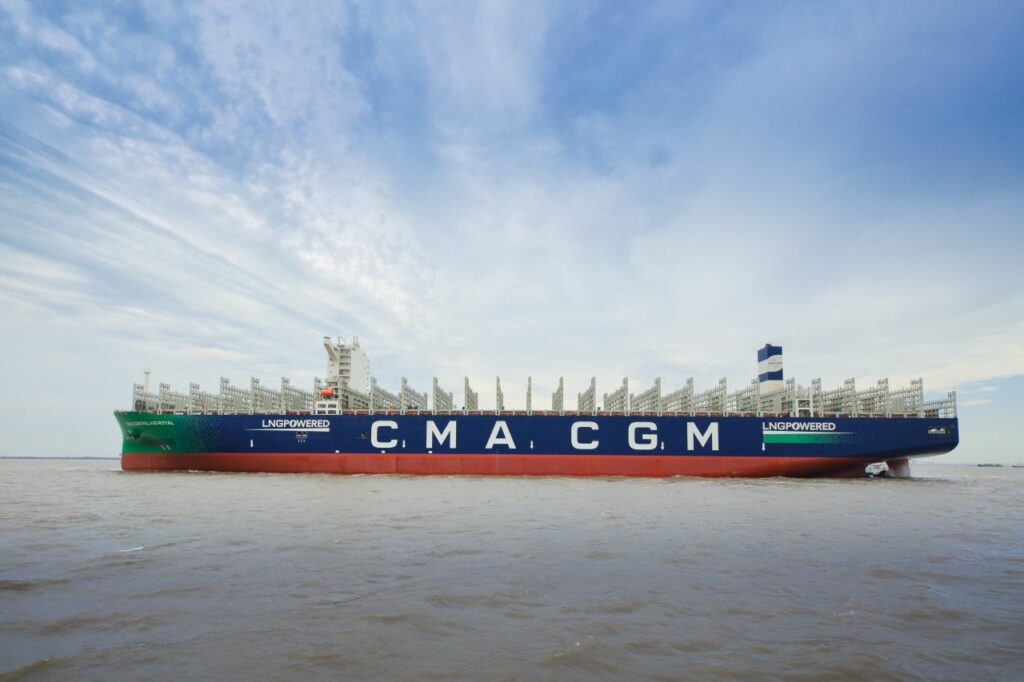 CMA CGM's third LNG-powered giant delivered