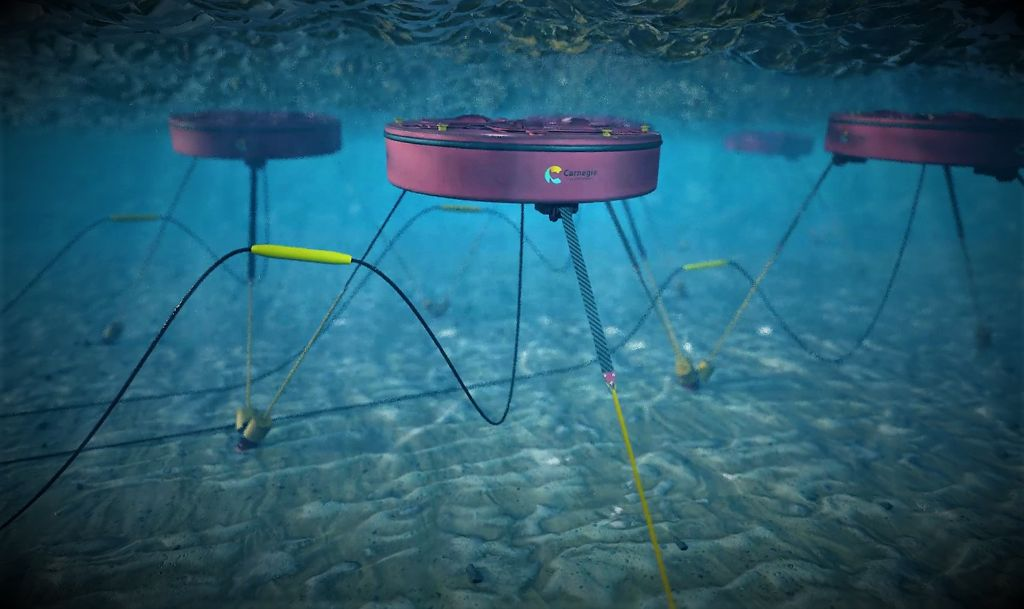 An image of Carnegie's CETO 6 wave energy technology concept (Courtesy of Carnegie Clean Energy)