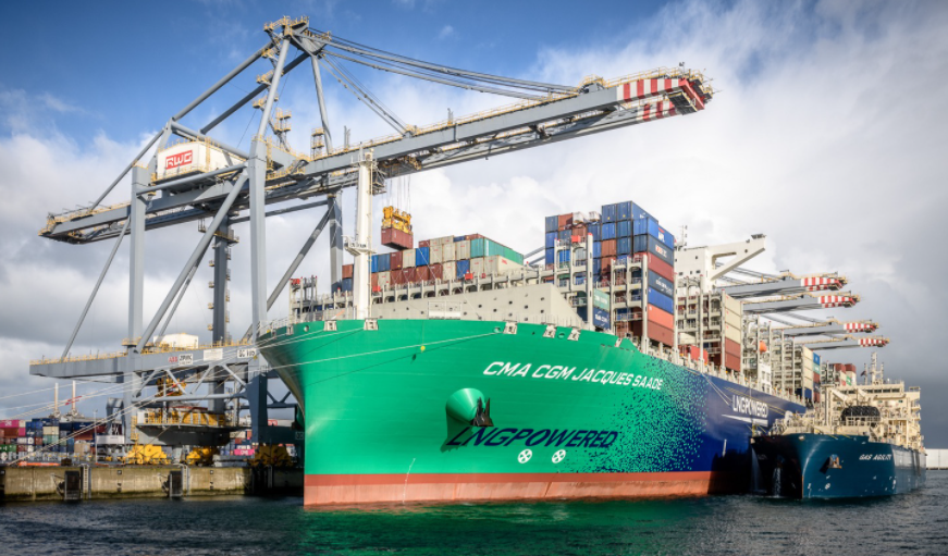 CMA CGM Jacques Saade bunkered by Gas Agility in Rotterdam