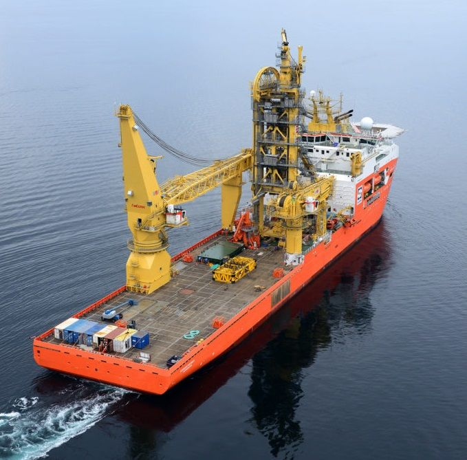 A photo of Normand Maximus vessel (Courtesy of Solstad Offshore)