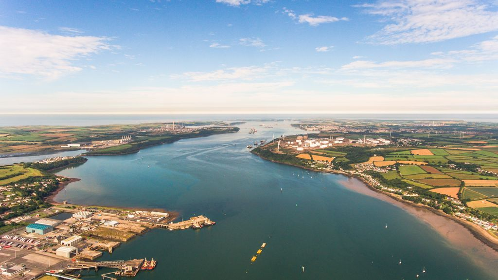 A photo of Milford Haven Waterway (Courtesy of Marine Energy Wales)