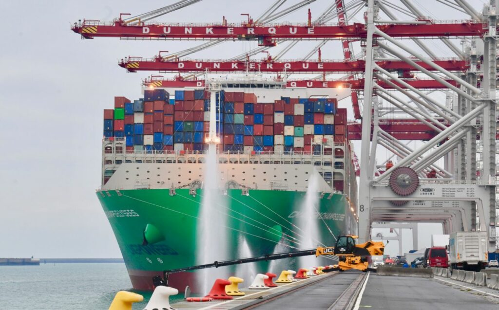 CMA CGM's LNG-powered giant calls at Dunkirk