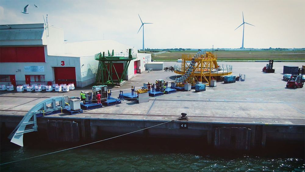 Photo of NKT cable handling system (Courtesy of NKT)