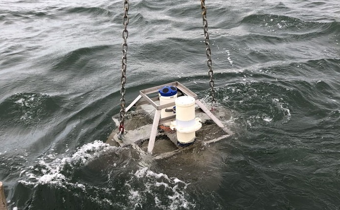 A photo showing ADCP deployment (Courtesy of TIGER Project)