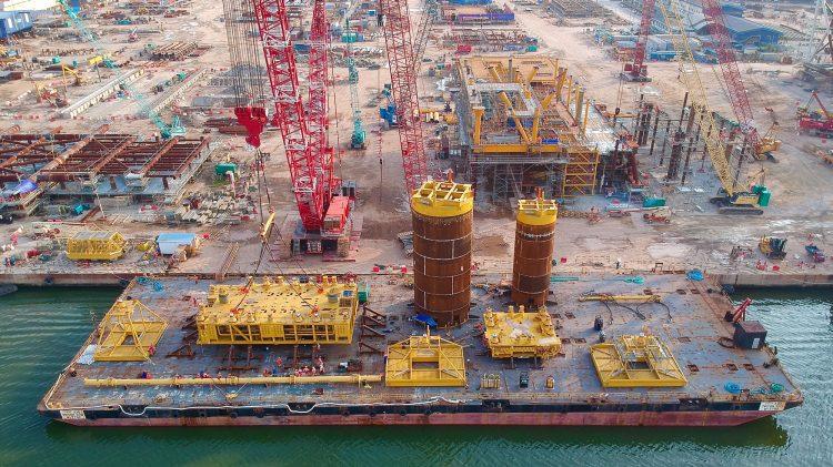 KG D6 subsea structures loadout - BP