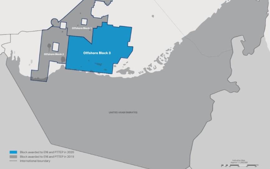 Exploration Offshore Block 3 map - Eni