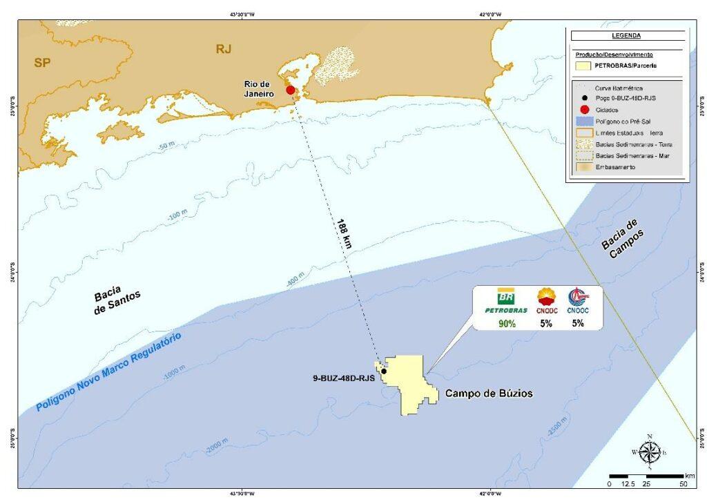 Búzios field map - Petrobras