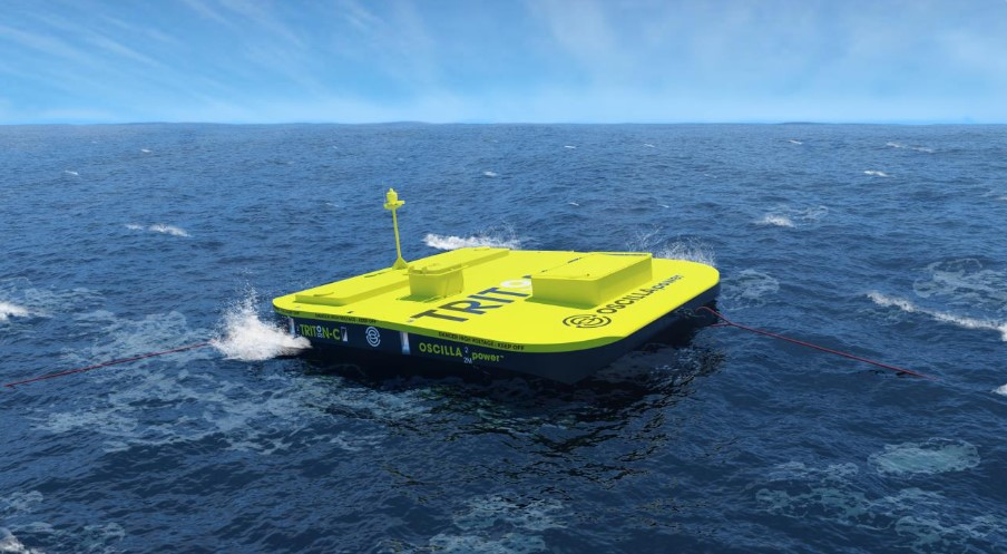 Oscilla Power's Triton wave energy device concept (Courtesy of Oscilla Power)