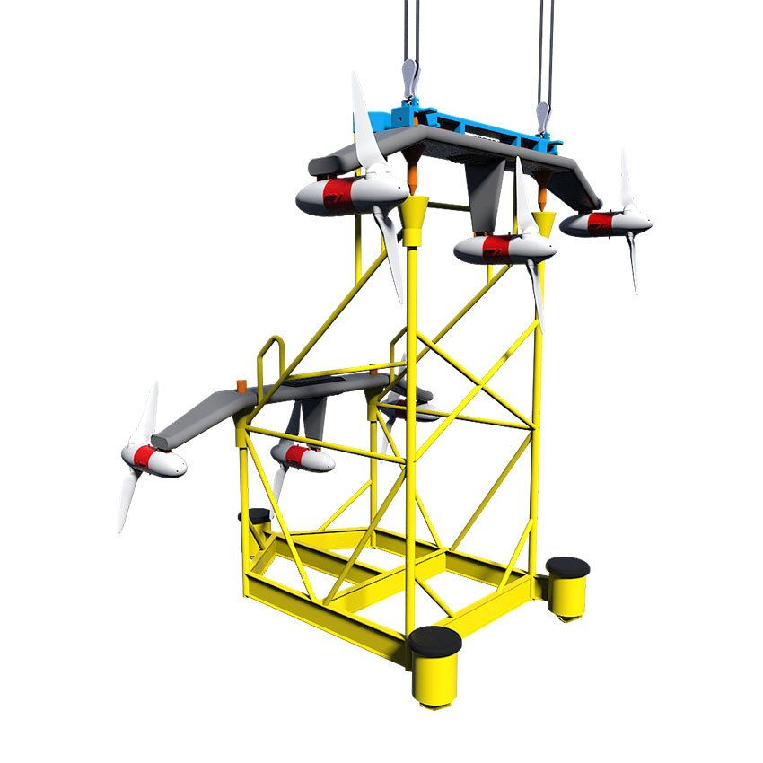 An image of HydroWing tidal device (Courtesy of HydroWing)