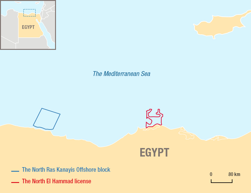 The North Ras Kanayis Offshore block in Egypt