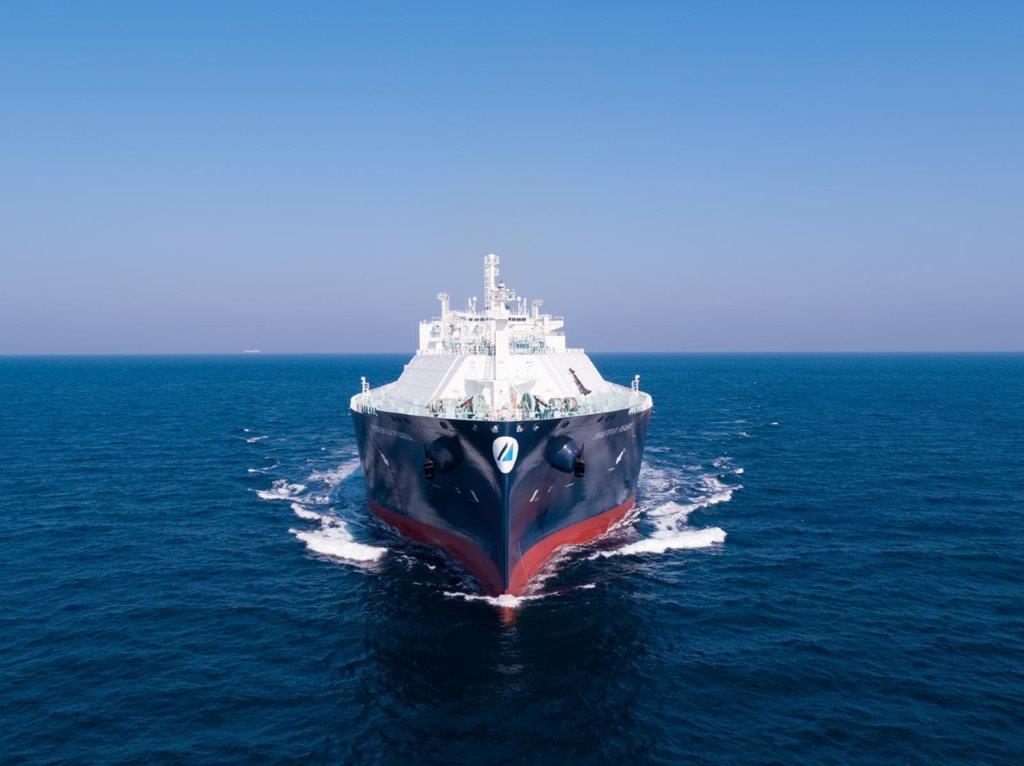Minerva Psara during sea trials.