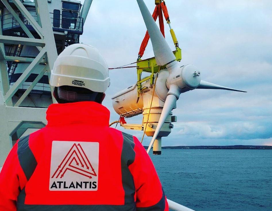 Photo of MeyGen tidal turbine (Courtesy of Simec Atlantis)