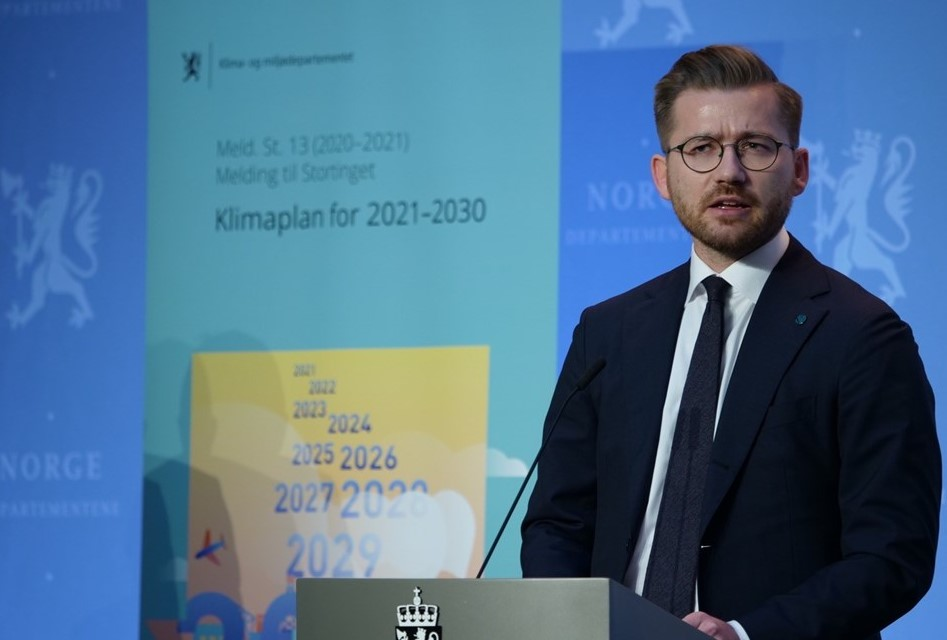 Norwegian Minister of Climate and Environment Sveinung Rotevatn; Source: Government of Norway