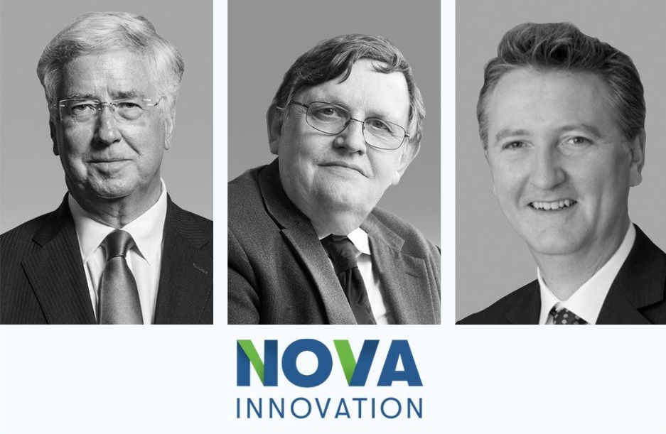 (L to R) Michael Fallon; Chris Phillips; Brian Aird (Courtesy of Nova Innovation)