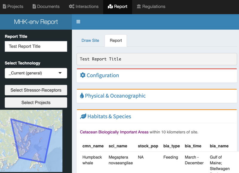 A screenshot of the Toolkit's Map Reporting Tool (Courtesy of U.S. DOE)