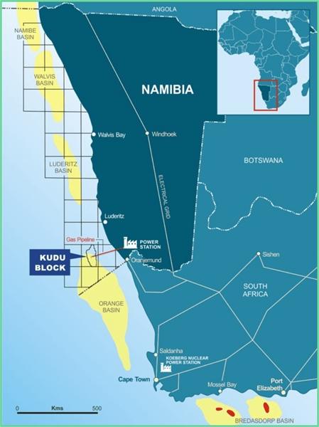 Kudu map - BW Energy
