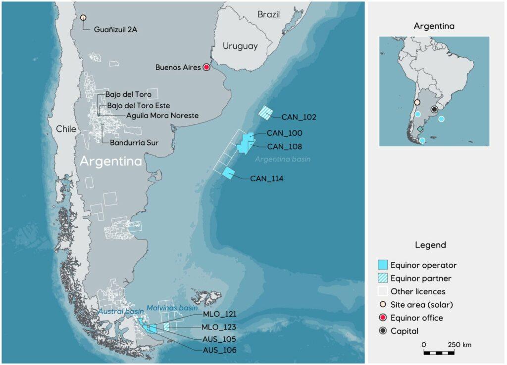 Equinor activities in Argentina