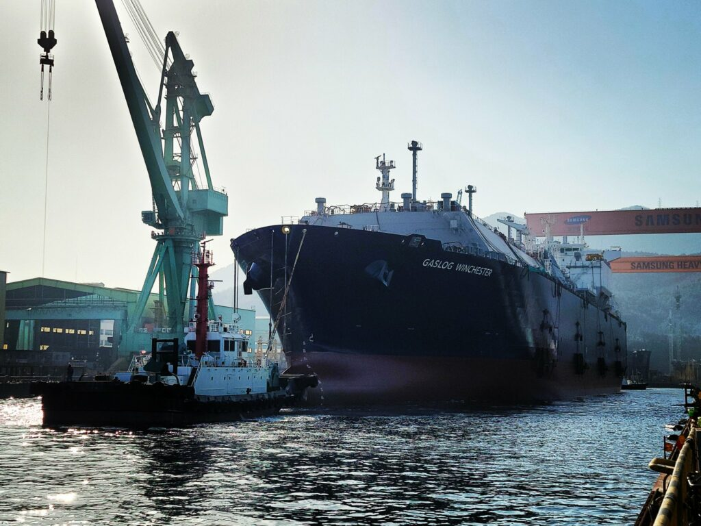 SHI launches GasLog's LNG newbuild