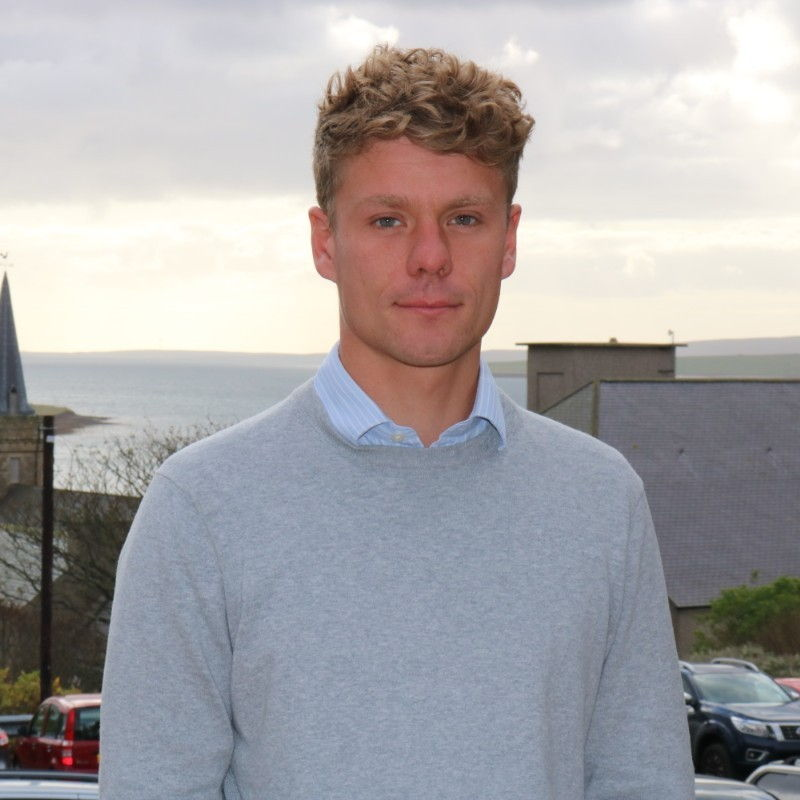 Photo of Saul Young (Courtesy of Marine Energy Wales)