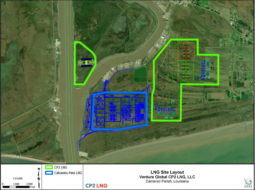 CP2 LNG project layout