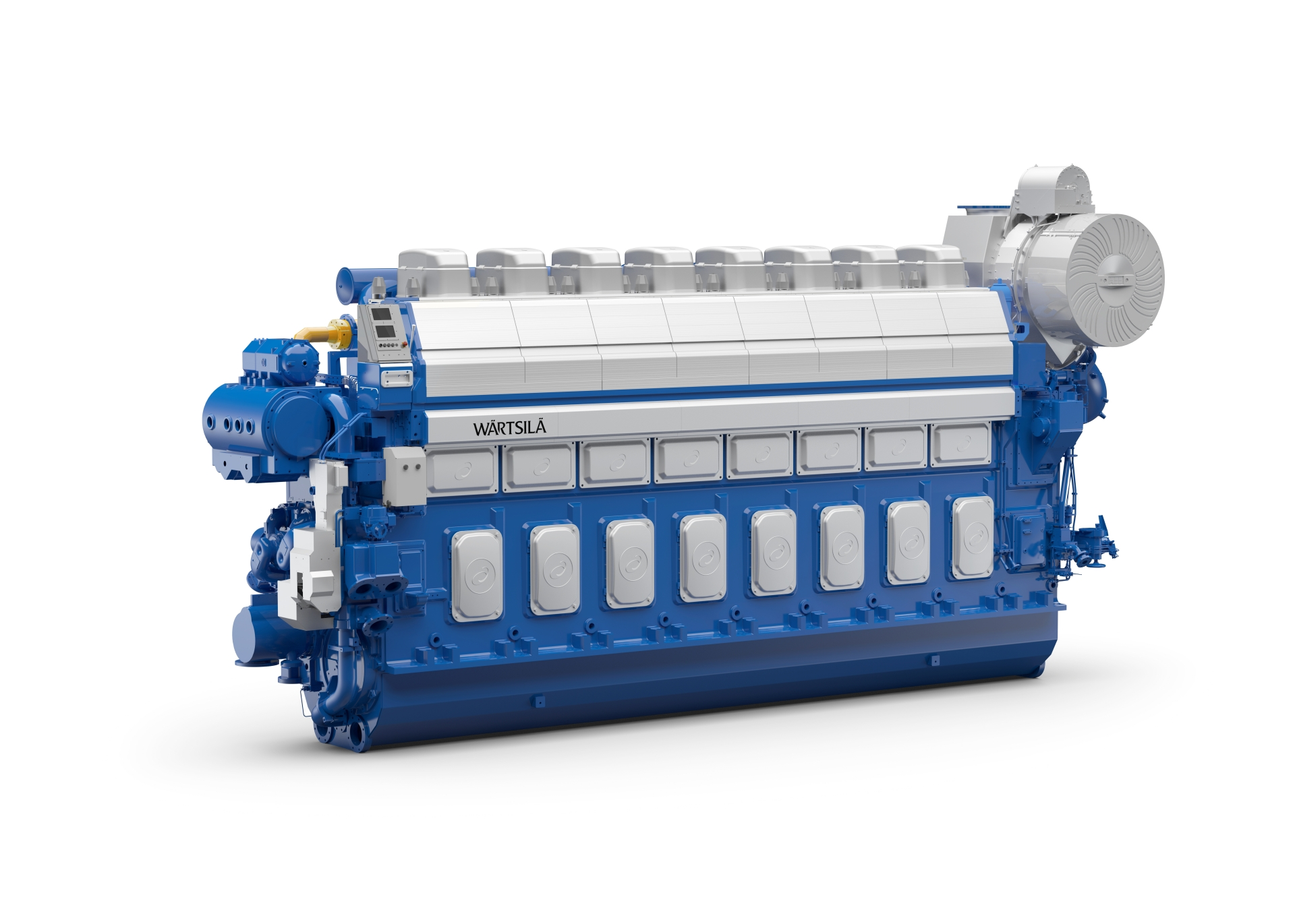 Wärtsilä 46DF (8L46FDF) product image rendering with white background