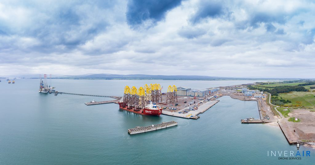 Photo of the Port of Nigg from the air (Courtesy of Inverair Drone Services)