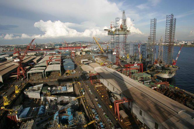 A Keppel shipyard