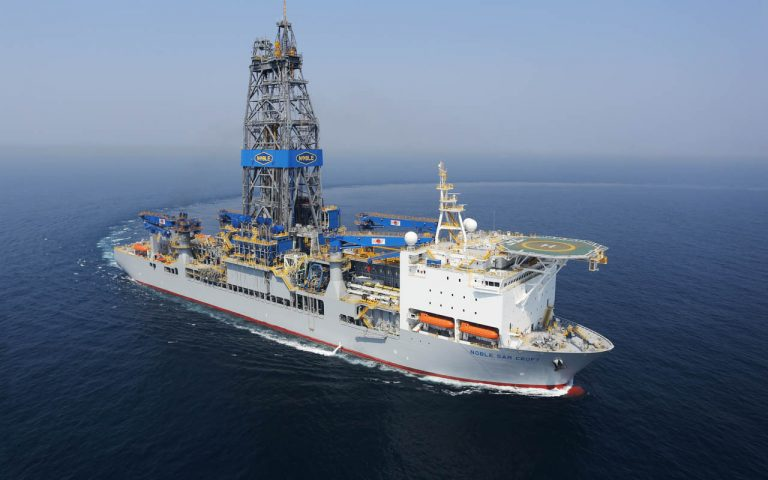 Noble Sam Croft drillship drilled the Suriname well for Total