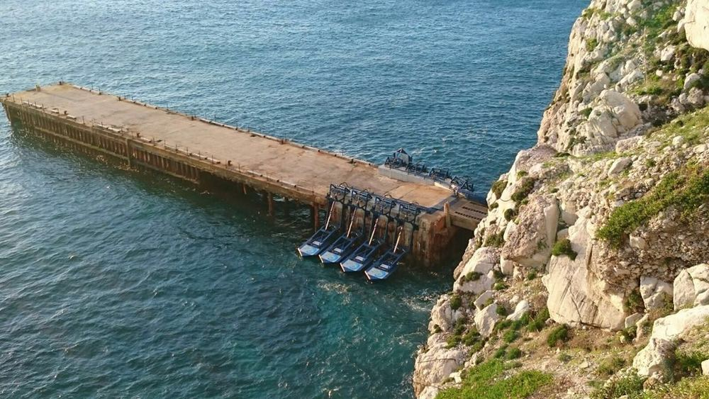 A photo of Eco Wave Power's Gibraltar wave power plant (Courtesy of Eco Wave Power)