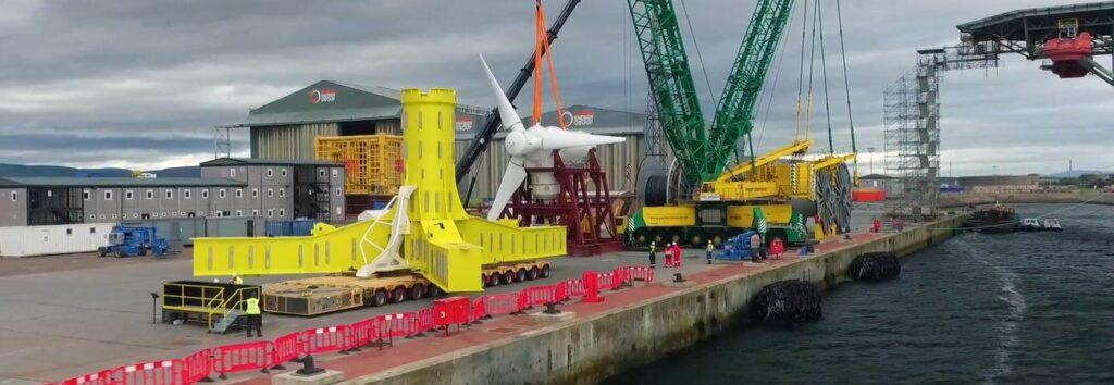 Illustration/Simec Atlantis' MeyGen turbine (Courtesy of Simec Atlantis)