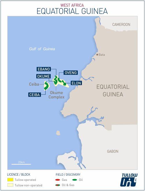 Equatorial Guinea map - Tullow Oil