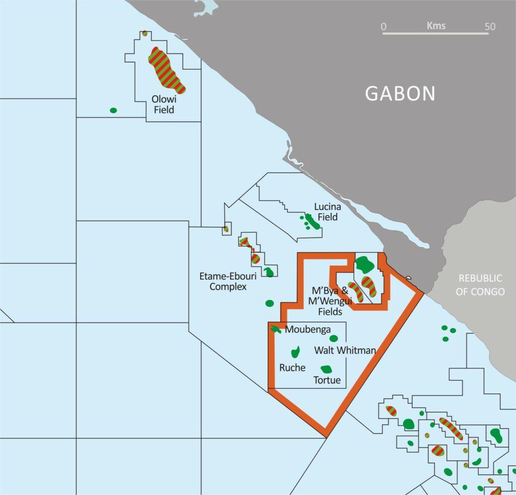 Gabon map - Panoro Energy