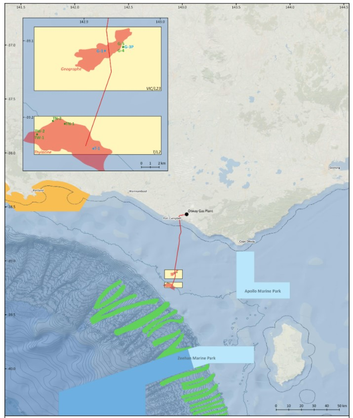 Otway development map - Beach Energy