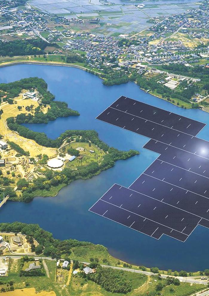 Floating Solar Energy Hybrid Project illustration (Courtesy of The Marine Institute)