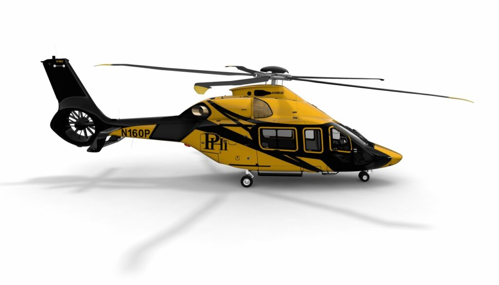 H160 helicopter PHI Rendering