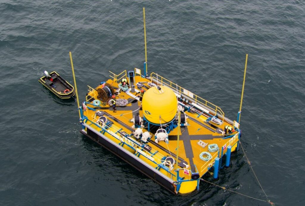 Photo of a quarter-scale WaveSub (Courtesy of Marine Power Systems)
