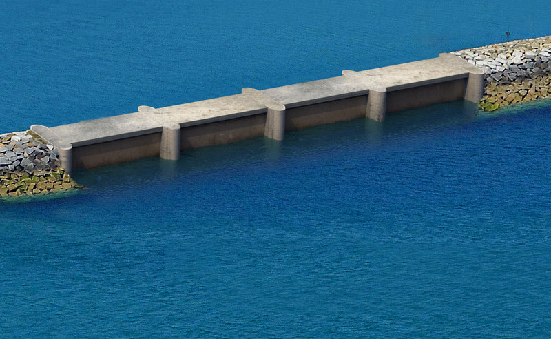 Illustration for DIKWE project breakwater (Courtesy of Legendre Group)