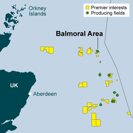 Balmoral field map - Premier Oil