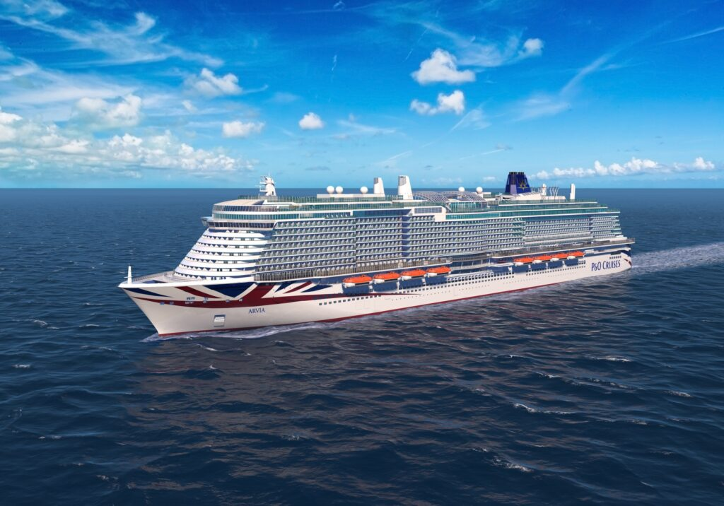 P&O Cruises' second LNG liner named Arvia
