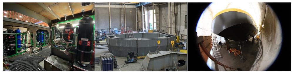 Photo of the community-scale Triton-C under construction (Courtesy of Oscilla Power)