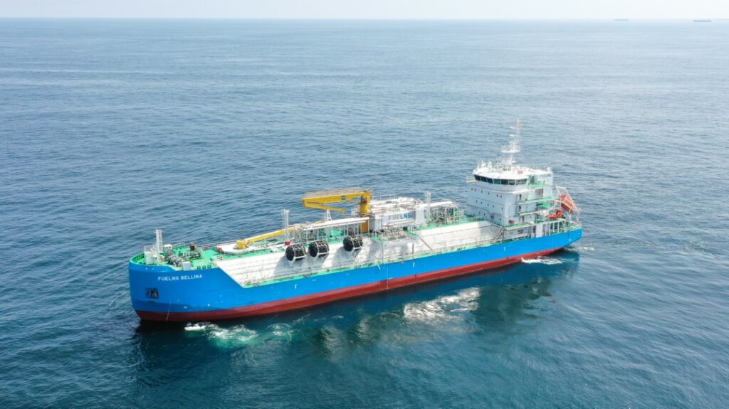 Singapore's 1st LNG bunkering vessel starts commercial ops
