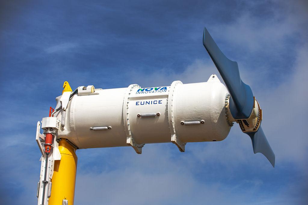 Photo of Nova Innovation's tidal turbine 'Eunice' before installation (Courtesy of Nova Innovation)
